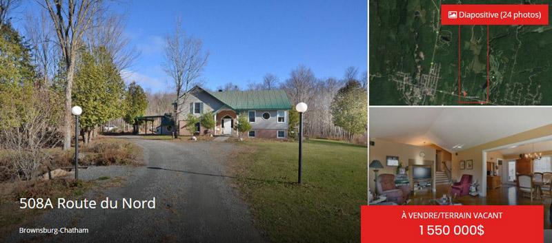 terrain a vendre Brownsburg-Chatham